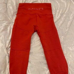 Alphalete red Revival leggings!!